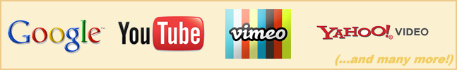 YouTube Traffic, Google Traffic, Vimeo Traffic, Yahoo Video Traffic and many more!