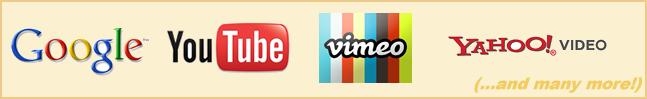 YouTube Traffic, Google Traffic, Vimeo Traffic, Yahoo Video Traffic and many more!